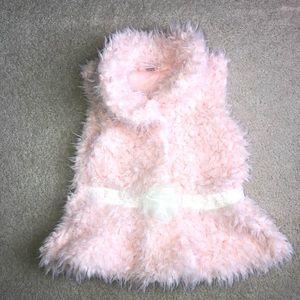 Little Lass - Soft Fuzzy Vest - 5T